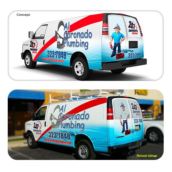 Vehicle Wrap Al Coronado Plumbing
